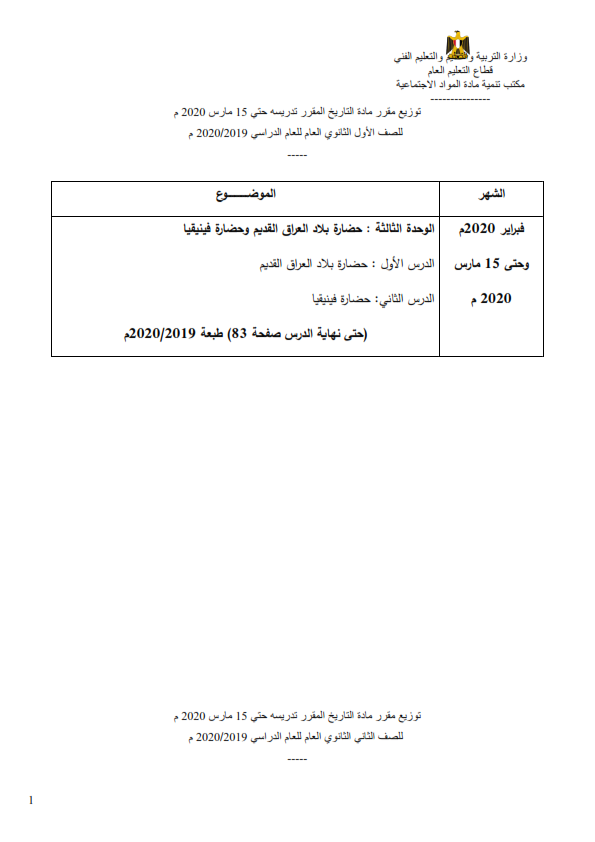 المناهج المقررة في المشروعات البحثية أو الإمتحانات من الصف الثالث الإبتدائي حتى الثالث الثانوي في جميع المواد حتى ١٥ مارس ٢٠٢٠  %2B%25286%2529_001