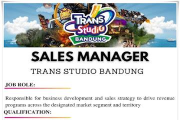 Lowongan Kerja Sales Manager Transtudio Bandung