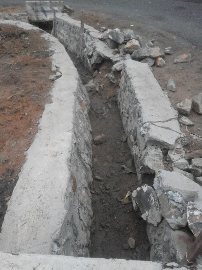 Warga Tiyuh Candra Kencana Keluhkan Pembangunan Dranase Yang Mengalami Kerusakan