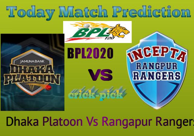 Dhaka Platoon Vs Rangapur Rangers-Match Prediction For Today - 38th match BPL 2019-2020