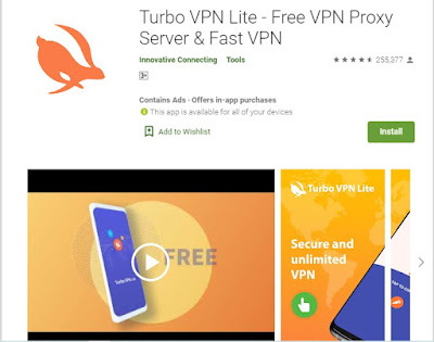 best free legal vpn turbo vpn lite from google play store for free