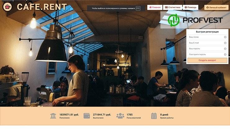 Cafe Rent обзор и отзывы HYIP-проекта