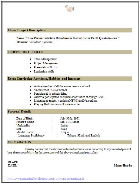 Best Curriculum Vitae Resume Samples