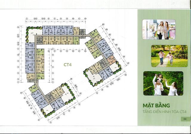 Mặt bằng thiết kế Nhà ở xã hội CT3 CT4 Kim Chung Thăng Long Green City Đông Anh