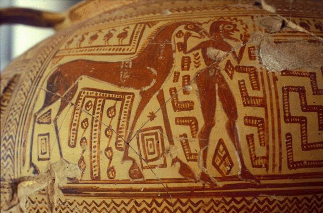 Ζωγραφική γεωμετρικής περιόδου από το Άργος