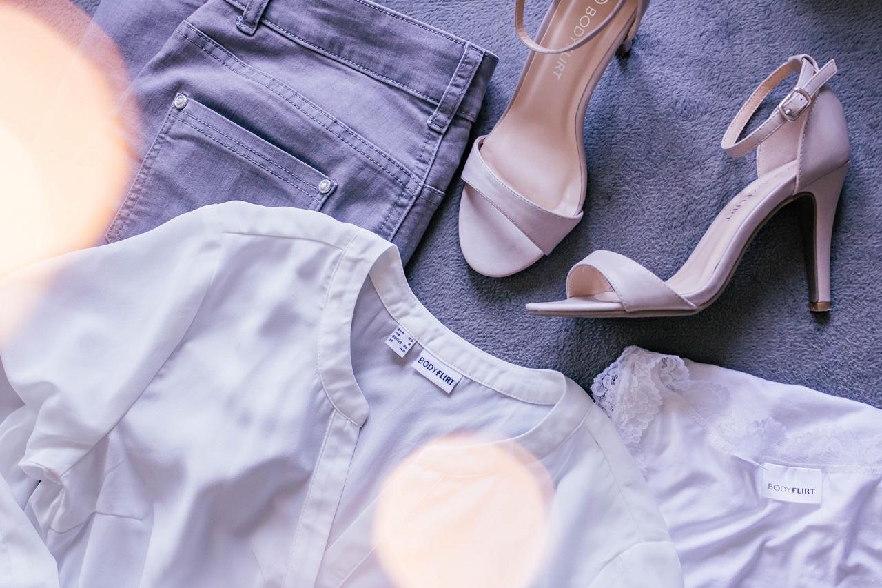 Bonprix - oczekiwania kontra rzeczywistość #2 {bluzka tunikowa, T-shirt, jeansy SKINNY i cieliste szpilki}