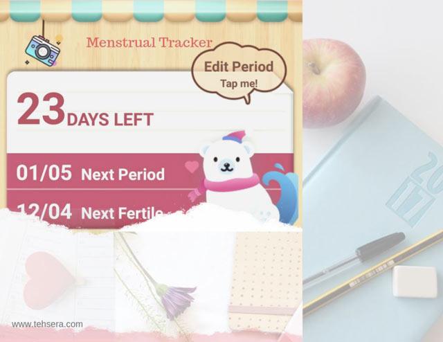 menstrual tracker untuk mengontrol siklus wanita
