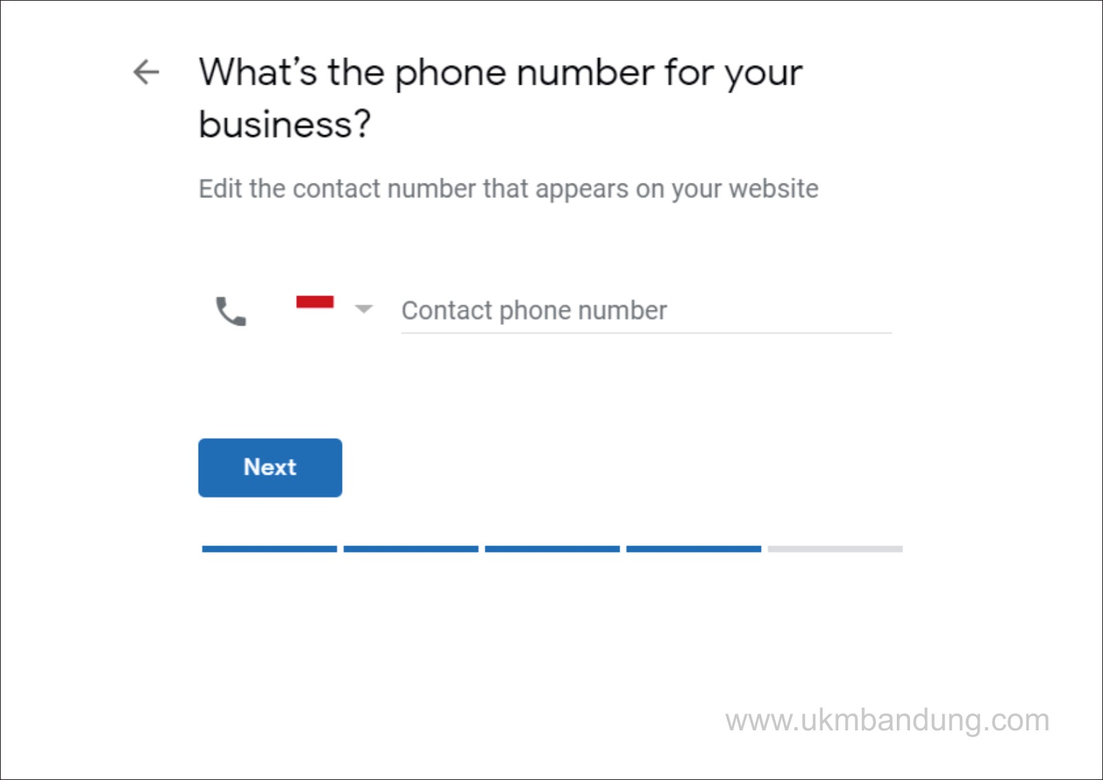 Sebutkan salah satu nomor kontak yang menyertai bisnis anda