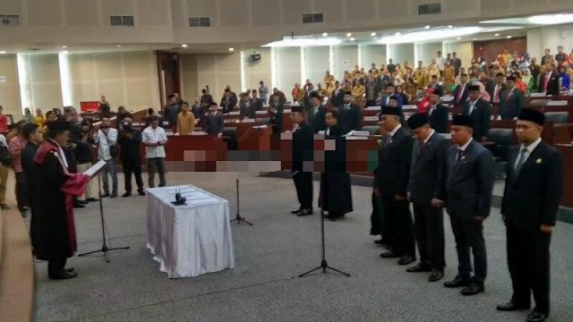 Lima Pimpinan DPRDSU Periode 2019-2024 Resmi Dilantik