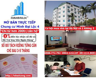 Chung cư mini Minh Đại Lộc 4 giá rẻ
