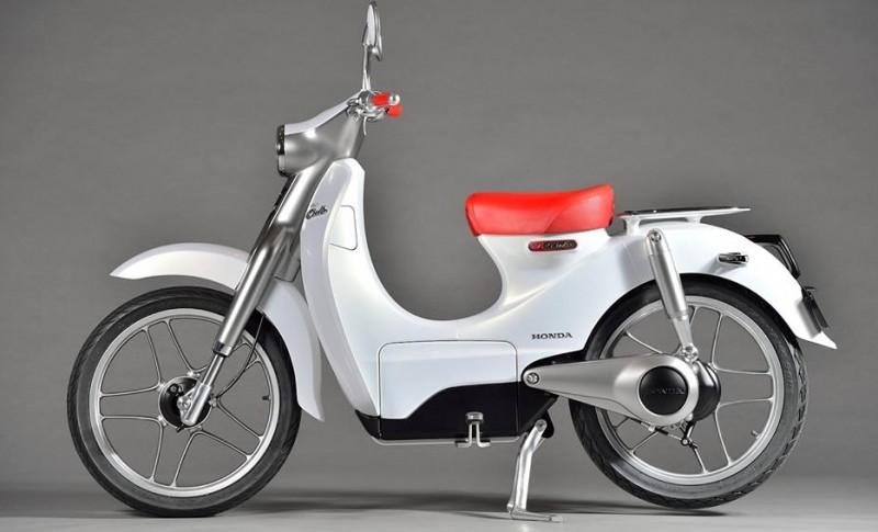 Penampakan Motor Listrik Honda EV-Cub