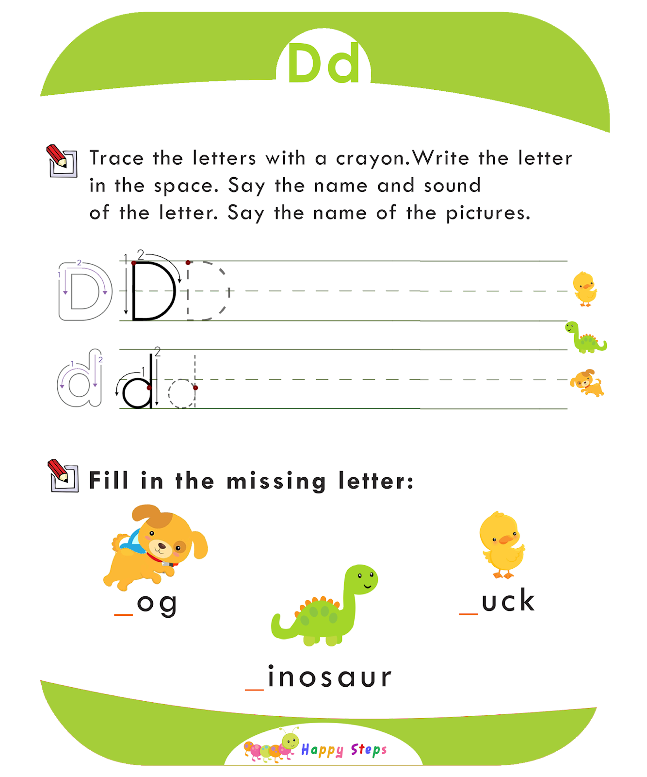 Activity Worksheet 2 Letter D