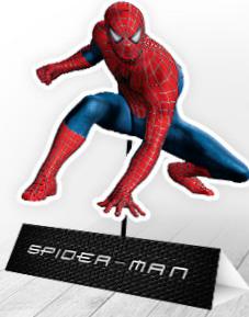 Spiderman: Free Printable Centerpiece.