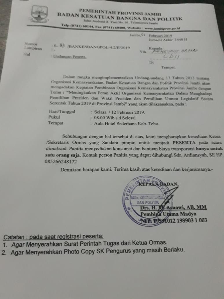 Dpd Ldii Tebo February 2019