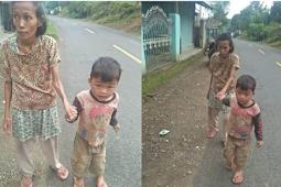 Bikin Haru, Bocah 5 Tahun Ini Tiap Hari Tuntun Ibunya yang Buta dalam Mencari Nafkah Sehari-hari