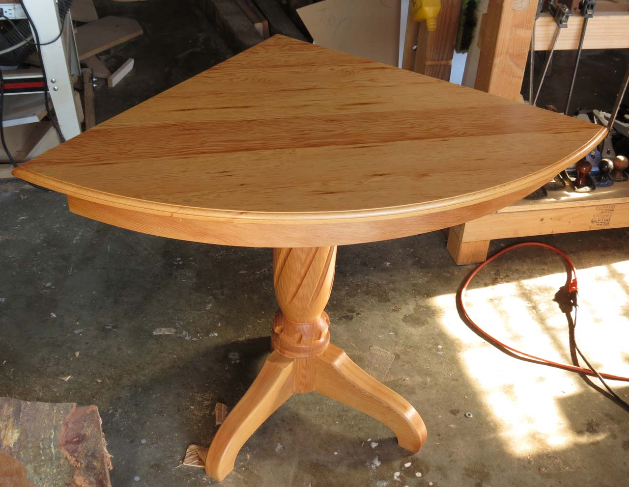 Project Notes Corner Table From Reclaimed Fir