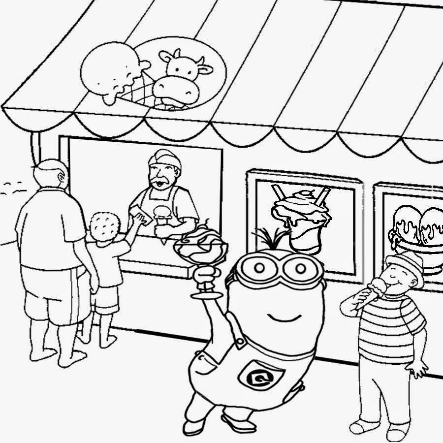 ice cream store coloring pages-#10