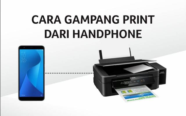 Cara Cetak Dari Ponsel Ke Printer Laser HP - KLIK AZZAM