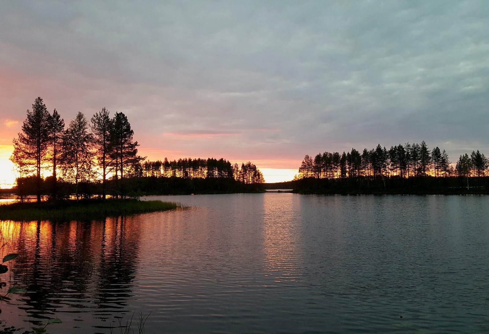 auringonlasku Pohjois-Karjalassa
