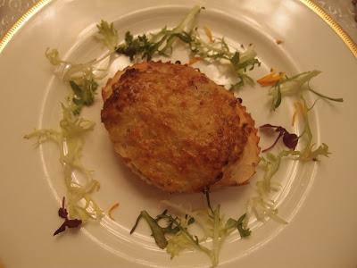芝士蟹肉燕窝酿焗蟹盖