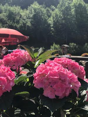 Pink travel themed wedding - Reise ins Glück Hochzeitsmotto im Riessersee Hotel Garmisch-Partenkirchen, Bayern Sommerhochzeit im Seehaus in den Bergen, Hochzeitsplanerin Uschi Glas