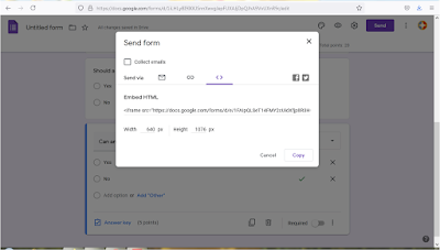 You can embed Google forms in your website by adding them in HTML