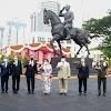 Megawati Soekarnoputri Meresmikan monumen Dr. (H.C) Ir. Soekarno di Lapangan Bela Negara Kemhan