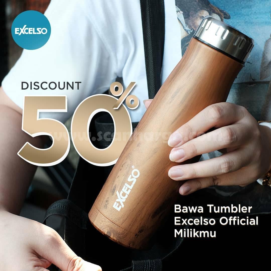 EXCELSO Promo DISKON 50% dengan menggunakan Tumbler Official Excelso