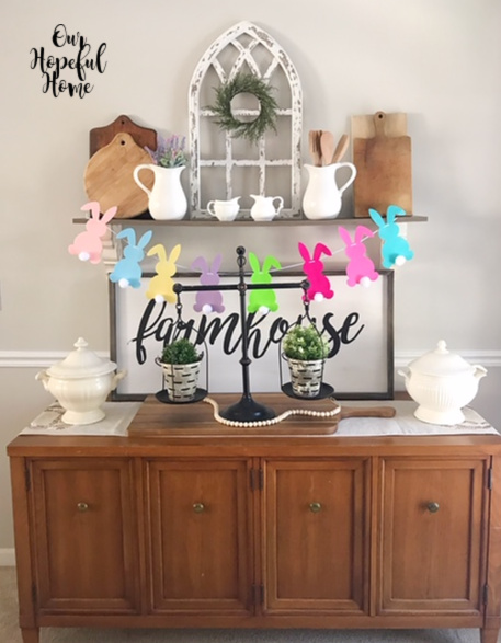 dining room buffet farmhouse shelf sign vintage scale