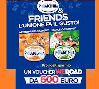 Concorso Philadelphia & Friends : vinci 10 voucher WeRoad da 600€