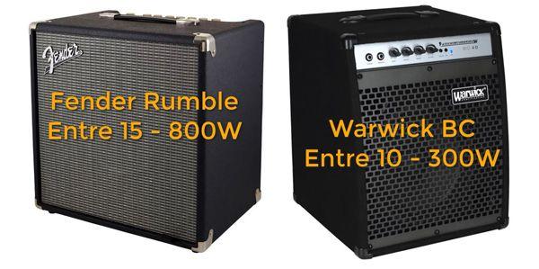 Combos para Bajo Fender Rumble y Warwick BC