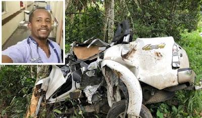 Morre o médico de Jequié-BA vítima de acidente com caminhonete no dia (03) de janeiro na BR-330