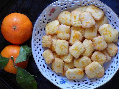 Spritzgebäck Spritzbeutel Mandarine