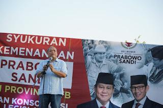 Partai Gerindra Syukuran Kemenangan Prabowo-Sandi di NTB