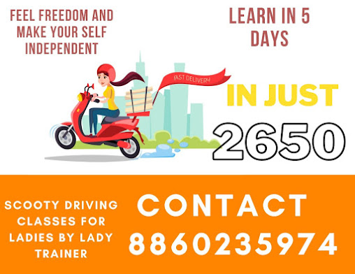 Lady Scooty Trainer In Delhi