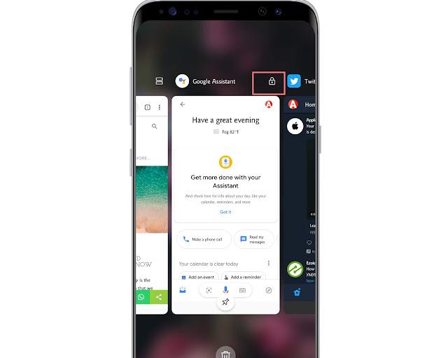 Lock An Recent App - hidden android features