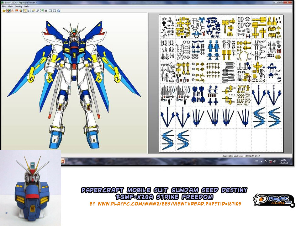 Papercraft Mobile Suit Gundam Seed on Parts Of A Seed