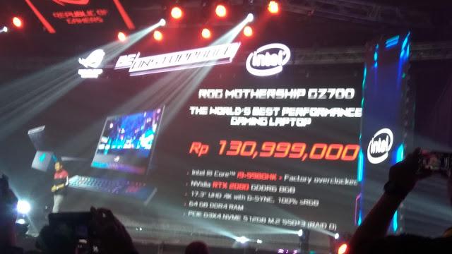 Jimmy Lin, ASUS Regional Director Southeast Asia saat memperkenalkan ROG Mothership seharga Rp.130..999.000 untuk diual di Indonesia (dok.windhu)