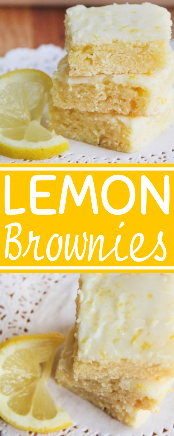 Lemon Brownies #desserts #recipes #baking #cake #brownies