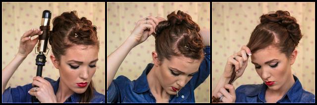 Astonishing The Freckled Fox Sweetheart Hair Week Tutorial 3 Rockabilly Rosie Short Hairstyles For Black Women Fulllsitofus