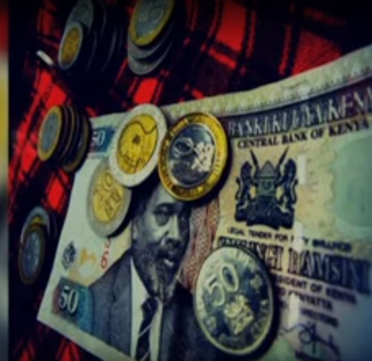 Kenyan note and shilling