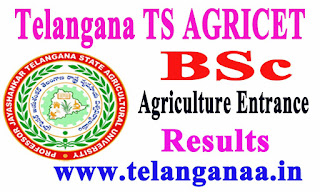 Telangana TS AGRICET 2016 BSc Agriculture Entrance Test Results Download