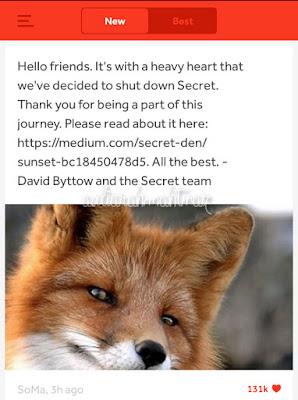 Post Terakhir Developer Aplikasi Secret