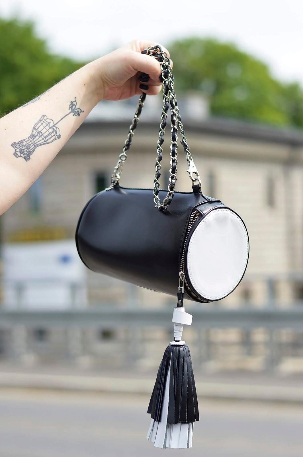 Black and white fashion,  Detalis, Bag