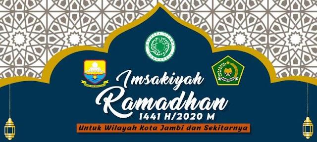 Jadwal Imsakiyah Ramadan 1442 H Wilayah Jambi dan Sekitarnya