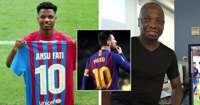 'I cried a lot, many times. Ansu fati father readts to son getting Messi's No.10 shirt