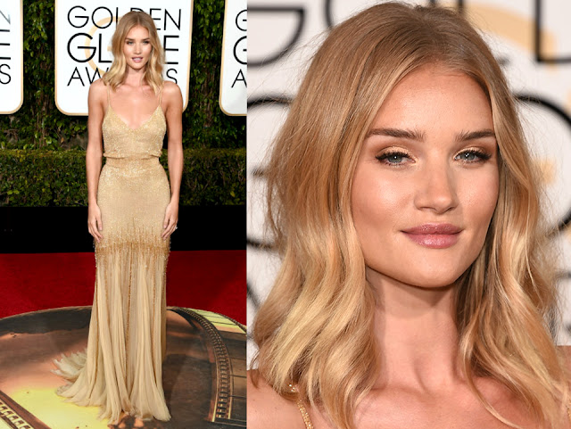 Rosie Huntington-Whiteley in Atelier Versace - Golden Globe Awards 2016