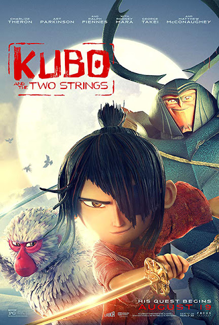 Cartel en inglés de la película Kubo y las 2 cuerdas mágicas, Kubo and the two Strings
