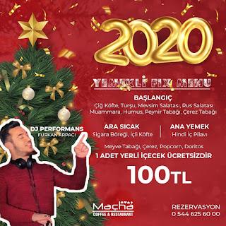 Macha Cafe Gaziantep Yılbaşı Programı 2020 Menüsü