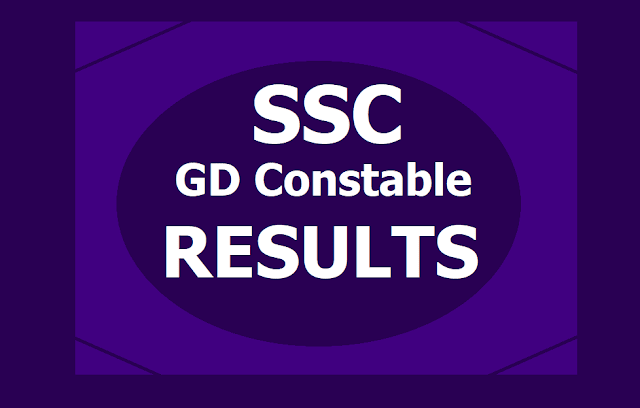 SSC GD Constable Results 2019 and List of Candidates Shortlisted for PET/PST